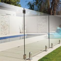 Barrière de piscine en verre sans poteau