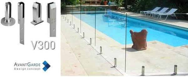 barrière piscine verre, une clôture totalement transparente